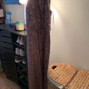 Donna Morgan sequin wedding gown